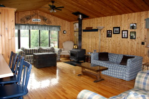 Clearwater Lake Cabin Livingroom on Clearwater (Burditt) Lake in Ontario, Canada FOR SALE