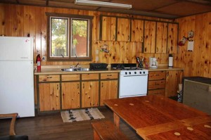 The Guide Shack Kitchen at Cedar Island Lodge on Pipestone Lake in Ontario, Canada
