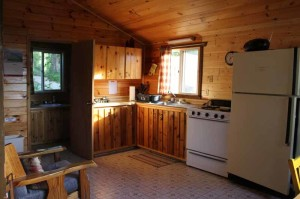 the winter cabin kitchen