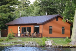 The Big Cabin at Cedar Island Lodge Pipestone Lake, Ontario Canada