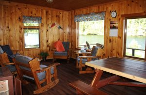 The Big Cabin Livingroom at Cedar Island Lodge